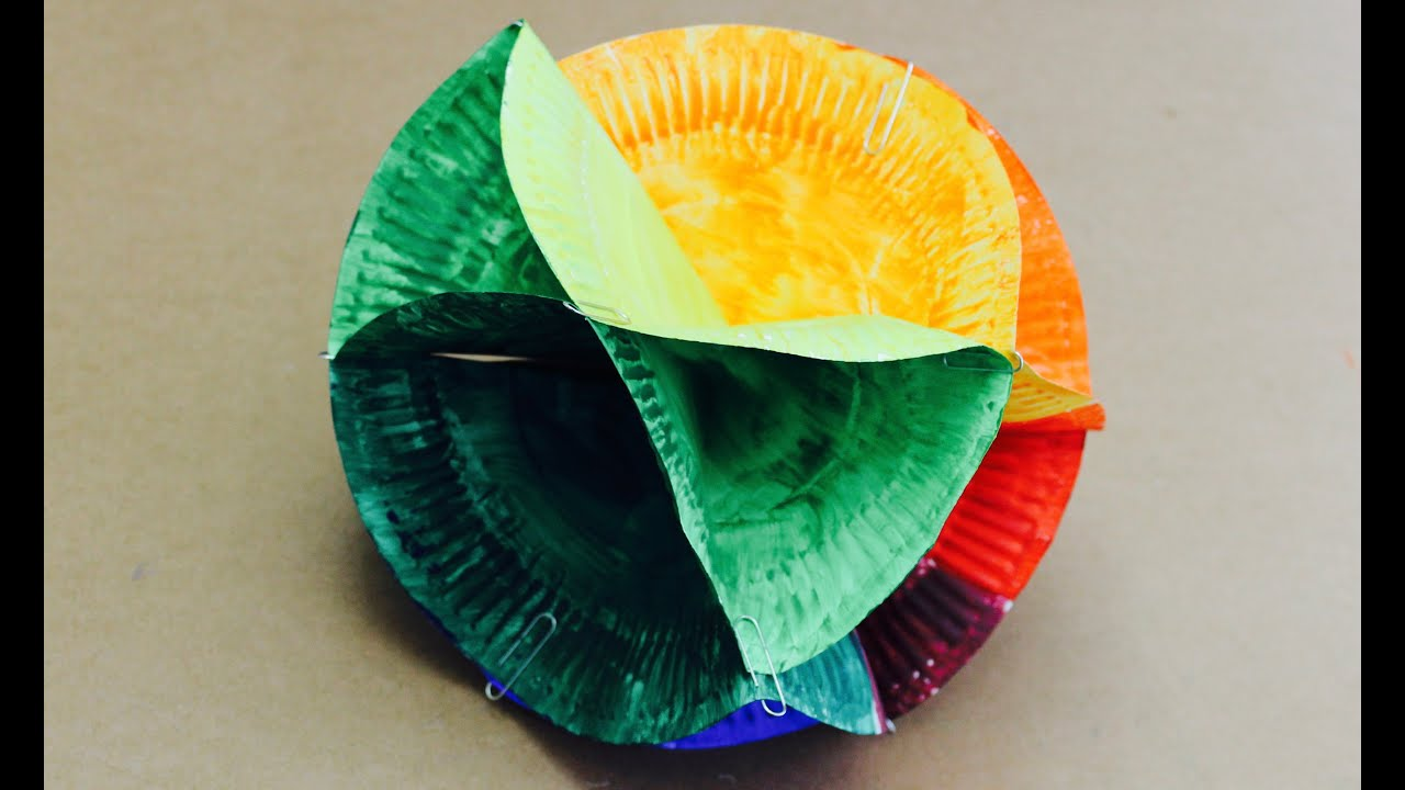 Easy craft: How to make a 3D colour wheel - YouTube