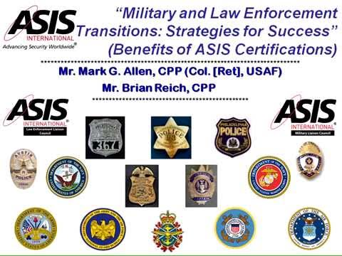 Military and Law Enforcement Transition: Strategies for Success.