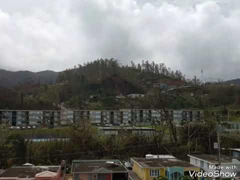 Adjuntas, Puerto Rico tras el paso del huracán Maria- Urb. Jardines