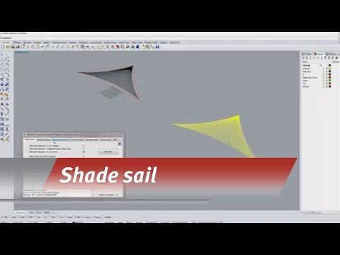 Templating a shade sail