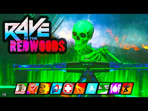 RAVE IN THE REDWOODS EASTER EGG SOLO COMPLETE STICKERBOOK! | INFINITE WARFARE ZOMBIES