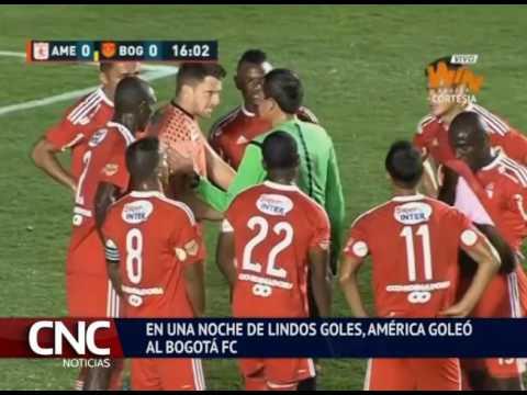 EN UNA NOCHE DE LINDOS GOLES, AMÉRICA GOLEÓ AL BOGOTÁ FC