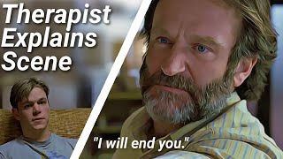 "Good Will Hunting scene Explained by Therapist | ""I will end you"" analysis"
