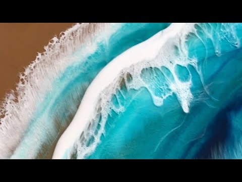How to use Resin to paint an Ocean Pour (first layer)