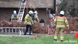 Woning behouden na felle brand in rietendak - Kootwijkerbroek 18 02 2016