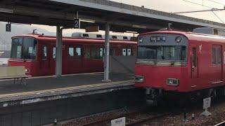 名鉄6800系 早朝の内海駅を発車!