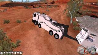 Rigs of Rods Gameplay 2015 - TOWING THE STRANDED BUS