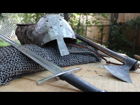 Making a Norman Helmet with Sheet Metal and Carpet Tacks