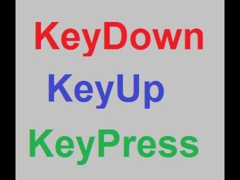 keydown event VBA , keyup event VBA & keypress Event VBA part-1