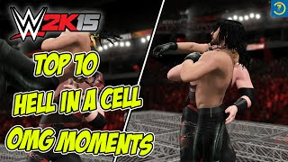 WWE 2K15 - Top 10 Hell In A Cell OMG Moments | WWE 2K16 Countdown