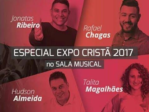 Talita Magalhães, Hudson Almeida, Rafael Chagas e Jonatas Ribeiro (Expo Cristã) no SALA MUSICAL