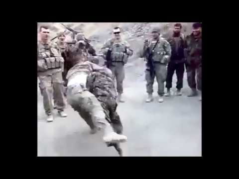 Afghan Army Soldier VS American Army Soldier (Wrestling) 2017