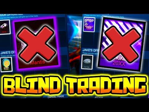 BLIND TRADING - I LOST MY $100 STRIKER 20XX ( Rocket League vs PickaPixel )