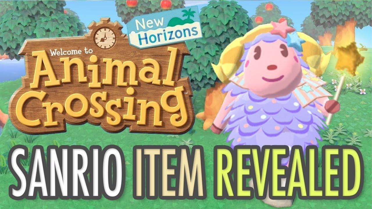 Animal Crossing New Horizons Sanrio Item Revealed Youtube