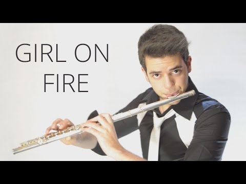 Girl on Fire - Alicia Keys - Amazing Flute Cover Music [Free Notes Download] Lyrics