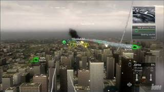 Tom Clancy's HAWX Xbox 360 Gameplay - Chicago Dog Fight