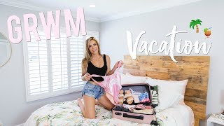 GRWM Vacation Routine | How to pack + outfit try on!