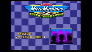 Micro Machines 2(SEGA, J-Cart version) 4 players demo work and 8-players share