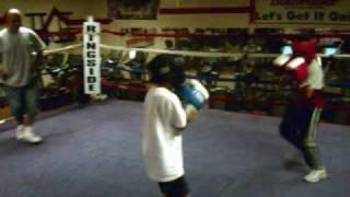 Stephen Zamora 1st time sparring at Vandenberg Boxing Club