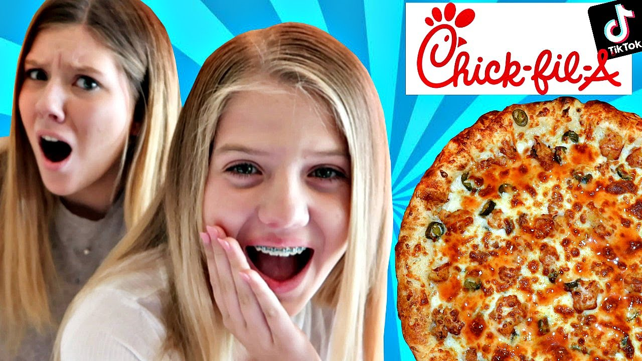 Trying PIZZA Made from FAST FOOD | Trying VIRAL Tik Tok Trends | Taylor & Vanessa