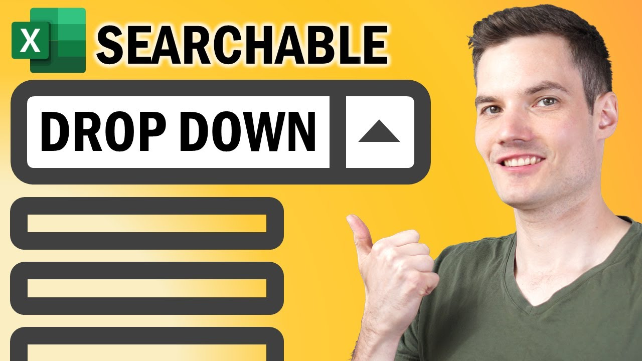 ? How to Create Searchable Drop Down List in Excel
