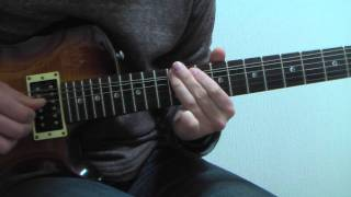 Ashes In Your Mouth -  Guitar Solo Tutorial / Marty Friedman ( Megadeth )