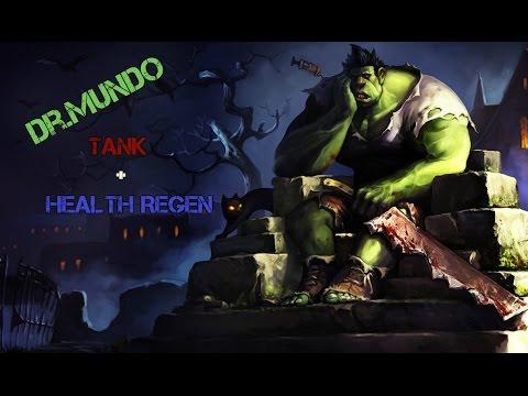 league Dr.Mundo tank/health reg. gameplay commentary