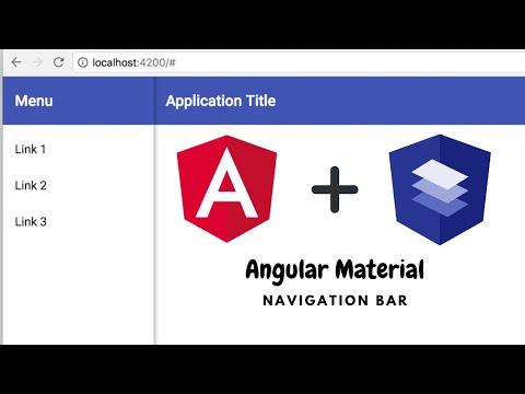 Angular Material | Navigation Bar | Angular 8 thumbnail