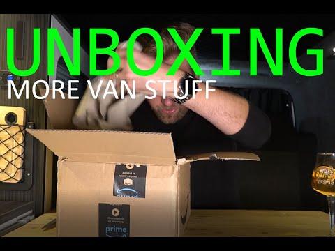 Friday Night Unboxing In The Van - Camper Van 'Essentials' (ish) Pt iii