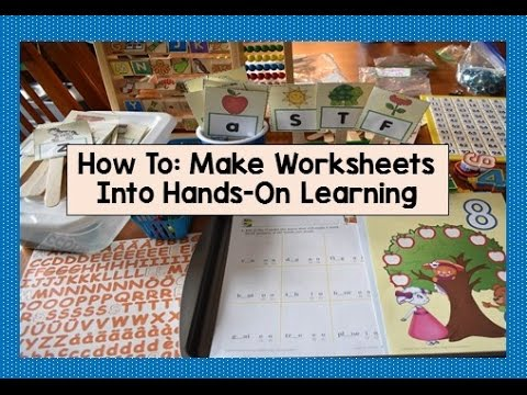 How I Make Worksheets Into Hands-On Learning