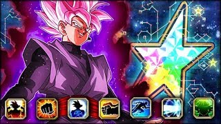 ARE YOU KIDDING ME!? HE'S BROKEN! 100% RAINBOW STAR INT GOKU BLACK SHOWCASE! (DBZ: Dokkan Battle)