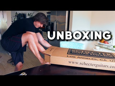 They Sent Me a Free Guitar Because I make YouTube Videos (Schecter Unboxing)