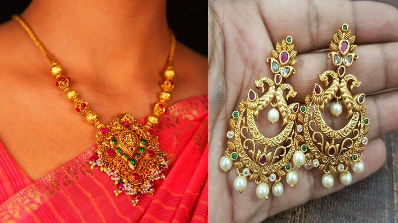 22k Gold Indian Jewellery Designs part 26 YouTube
