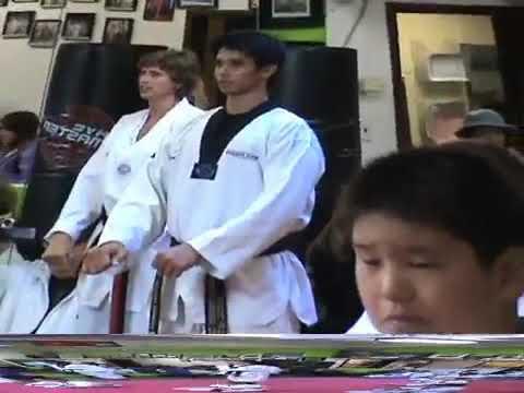 Testing for Taekwondo blackbelt