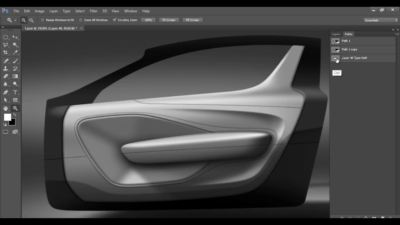 Car interior sketch part 1