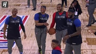 LeBron James Having Good Time With Kawhi, Westbrook, CP3 & More - 2020 NBA All-Star Practice