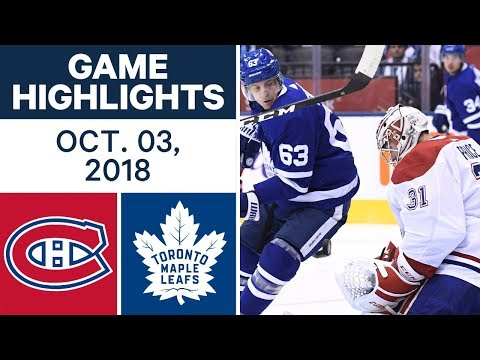 NHL Highlights | Canadiens vs. Maple Leafs - Oct. 3, 2018