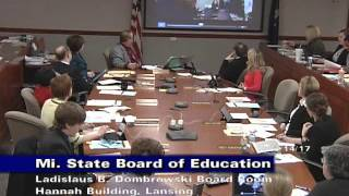 Michigan State Board of Education Meeting for March 14, 2017 - Morning Session