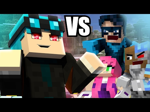 Evil dantdm is back teen titans go vs evil diamond - Diamond minecart clones ...