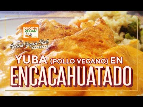 Yuba (pollo vegano) en encacahuatado - Cocina Vegan Fácil