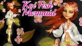 Koi Fish Mermaid - Doll Repaint Tutorial