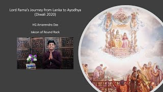 Lord Rama's Journey from Lanka to Ayodhya - HG Amarendra das