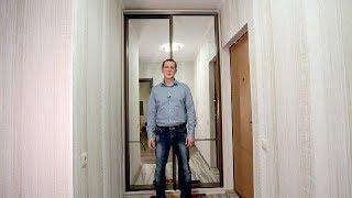 видео зеркальный шкаф-купе