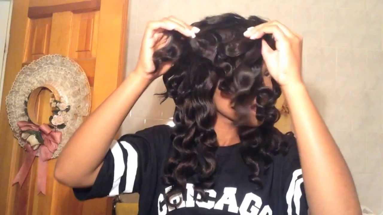 spiral wand curls hair tutorial