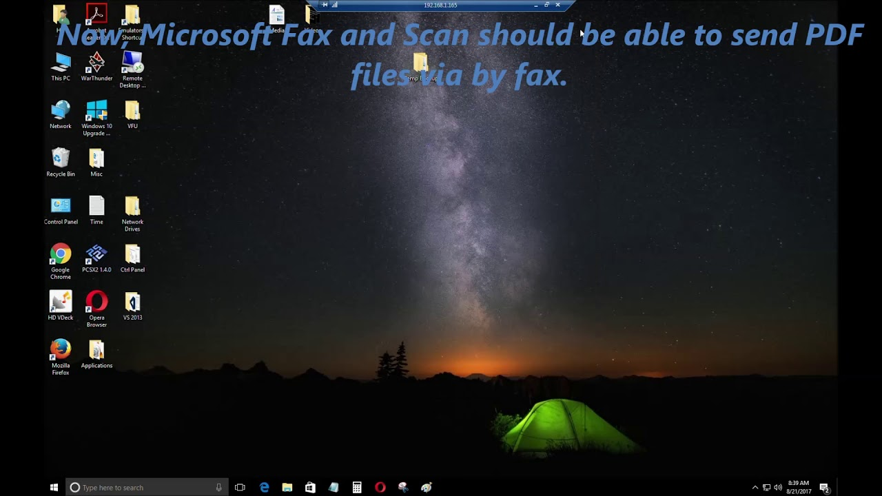 Windows Fax and Scan Windows 10 PDF Problem