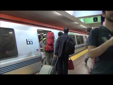 BART FROM SAN FRANCISCO TO OAKLAND 25/5/2016