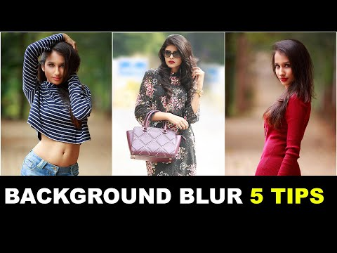 HOW TO CREATE BACKGROUND BLUR WITH DSLR CAMERA | PORTRAIT PHOTOGRAPHY TIPS IN HINDI