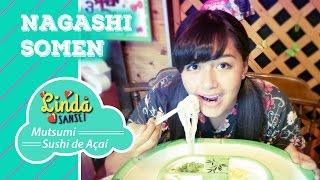 Vocês conhecem o NAGASHI SOMEN? É um prato japonês que se come no v...
