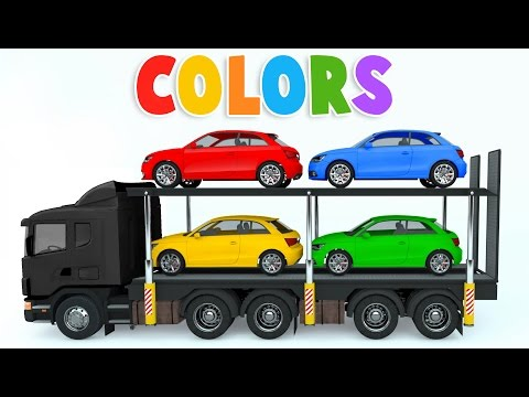 Thumbnail: Colors for Children to Learn with Car Transporter Car Toys - Colours for Kids to Learn