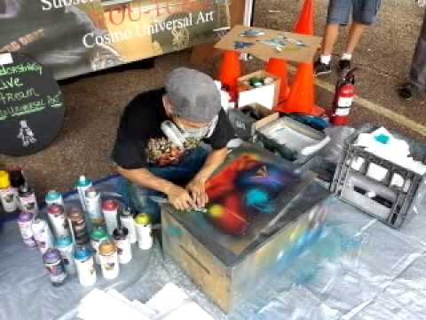 Cosmo Universal Art Live Spray Paint art .